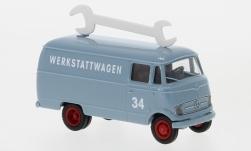 - <strong>Mercedes</strong> L 319 box wagon, Türnummer 34, 1956<br>Brekina, 1:87<br>#93638