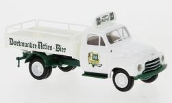 - <strong>Opel</strong> Blitz Bier flatbed tra, 1952<br>Brekina, 1:87<br>#35339