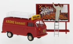 - <strong>VW</strong> T2 box wagon, with figure, 1973<br>Brekina, 1:87<br>#33547