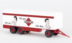 - <strong>Anhänger</strong> 3 axle box wagon, 1955<br>Brekina, 1:87<br>#55307