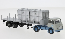 - <strong>Scania</strong> LB 76 Stake-SZ, with 2 Containers, 1962<br>Brekina, 1:87<br>#85174