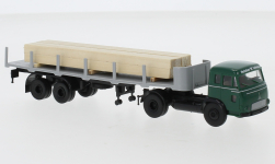 - <strong>Magirus</strong> Pluto Stake-SZ, with timber cargo, 1964<br>Brekina, 1:87<br>#83224