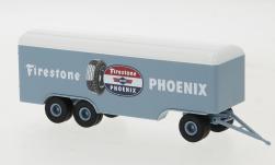 - <strong>Anhänger</strong> 3 axle box wagon, 1955<br>Brekina, 1:87<br>#55308